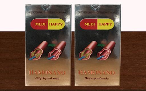viên uống hỗ trợ hạ mỡ máu Hamonano Medi Happy