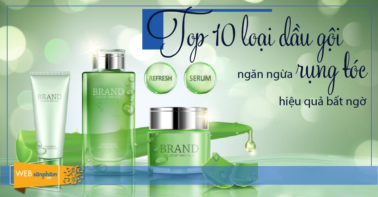 10 loại dầu gội ngăn ngừa rụng tóc
