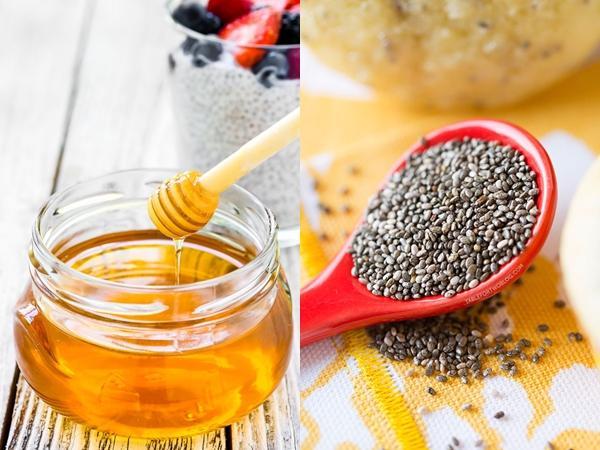 hạt chia mật ong