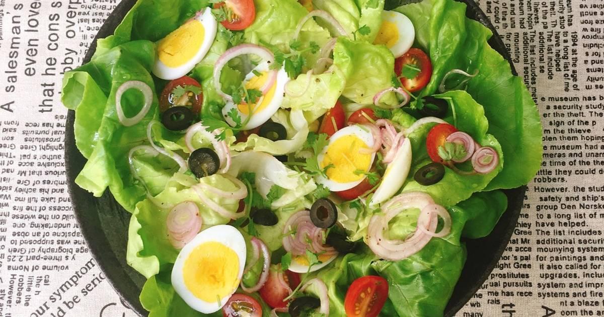 salad lòng trắng trứng