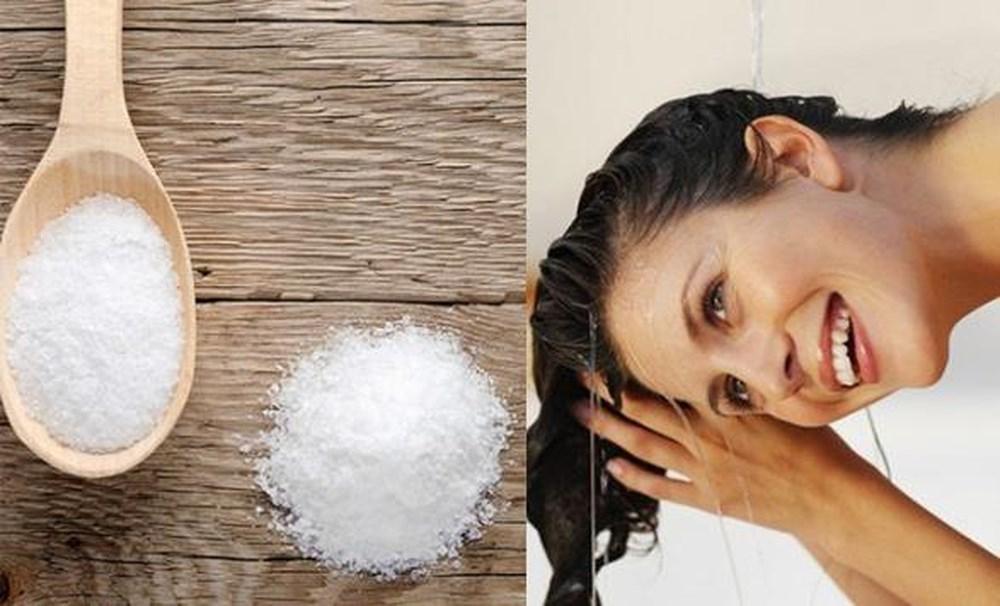 trị rụng tóc bằng muối
