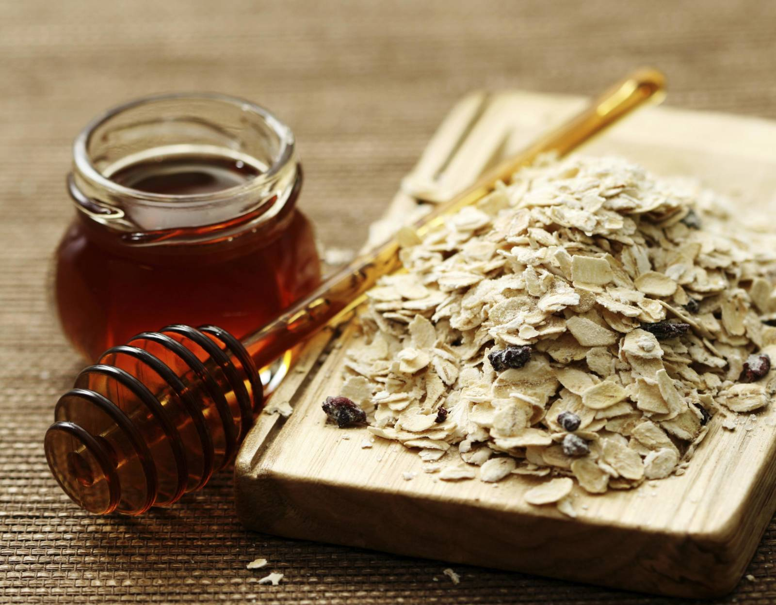 mật ong bột yến mạch