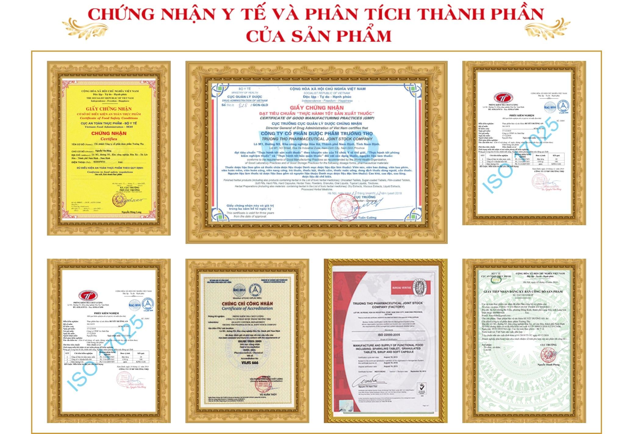 giấy chứng nhận đảm bảo an toàn